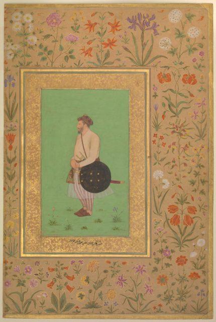 """Portrait of Khan Dauran Bahadur Nusrat Jang"", Folio from the Shah Jahan Album"