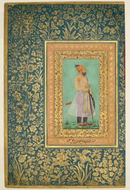 """Portrait of Sayyid Abu'l Muzaffar Khan, Khan Jahan Barha"", Folio from the Shah Jahan Album"