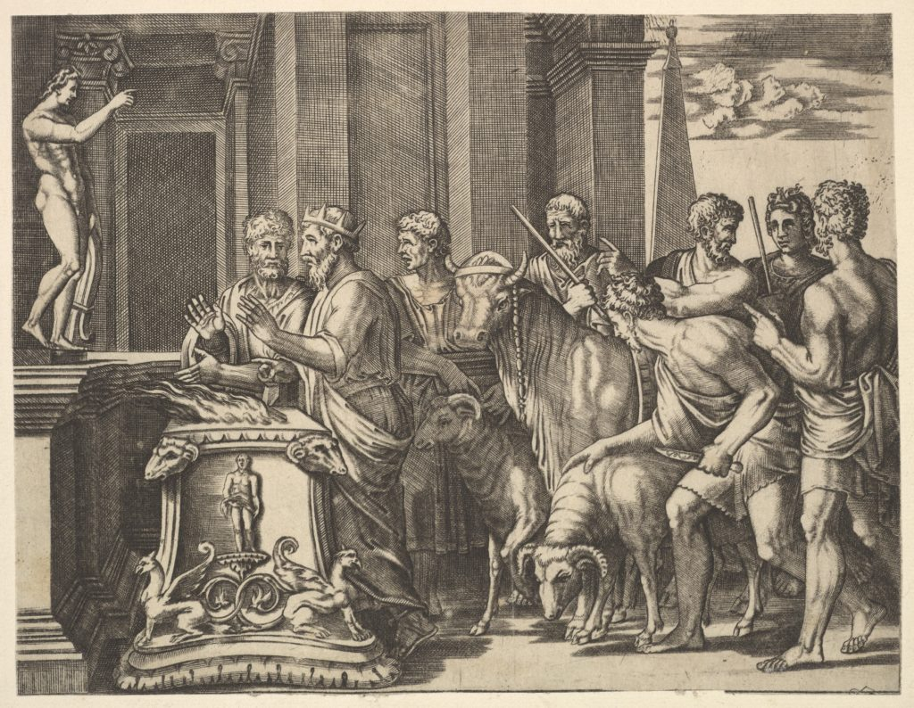 Psyche's father consulting the oracle, from 'The Fable of Psyche'