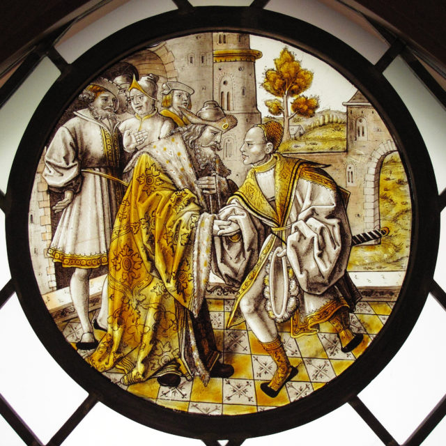 Roundel with Return of the Prodigal Son