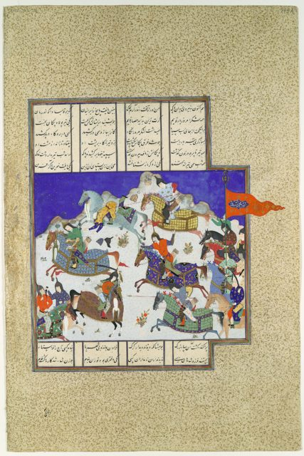 """""""The Coup against Usurper Shah"""", Folio 745v from the Shahnama (Book of Kings) of Shah Tahmasp"""