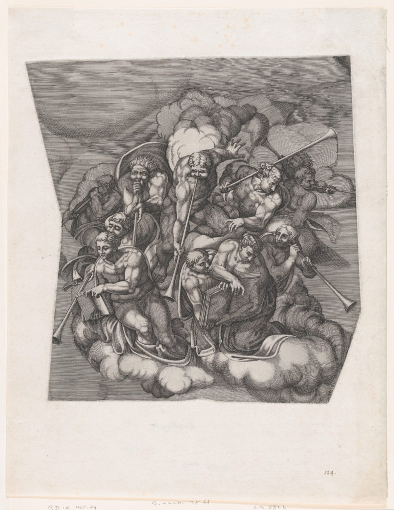 Trumpeting Angels from The Last Judgment, after Michelangelo