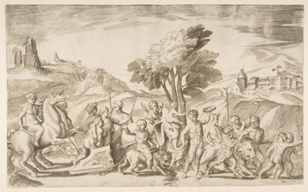 A children's bacchanal with animals
