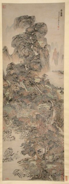 Dwellings of the Immortals Amid Streams and Mountains
