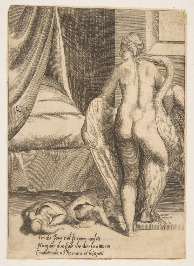 Leda and the Swan, from 'The Loves of the Gods'