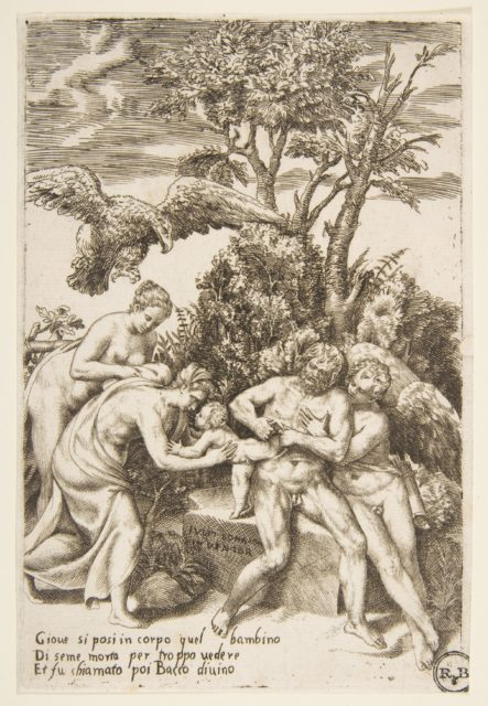 The birth of Bacchus, from 'The Loves of the Gods'