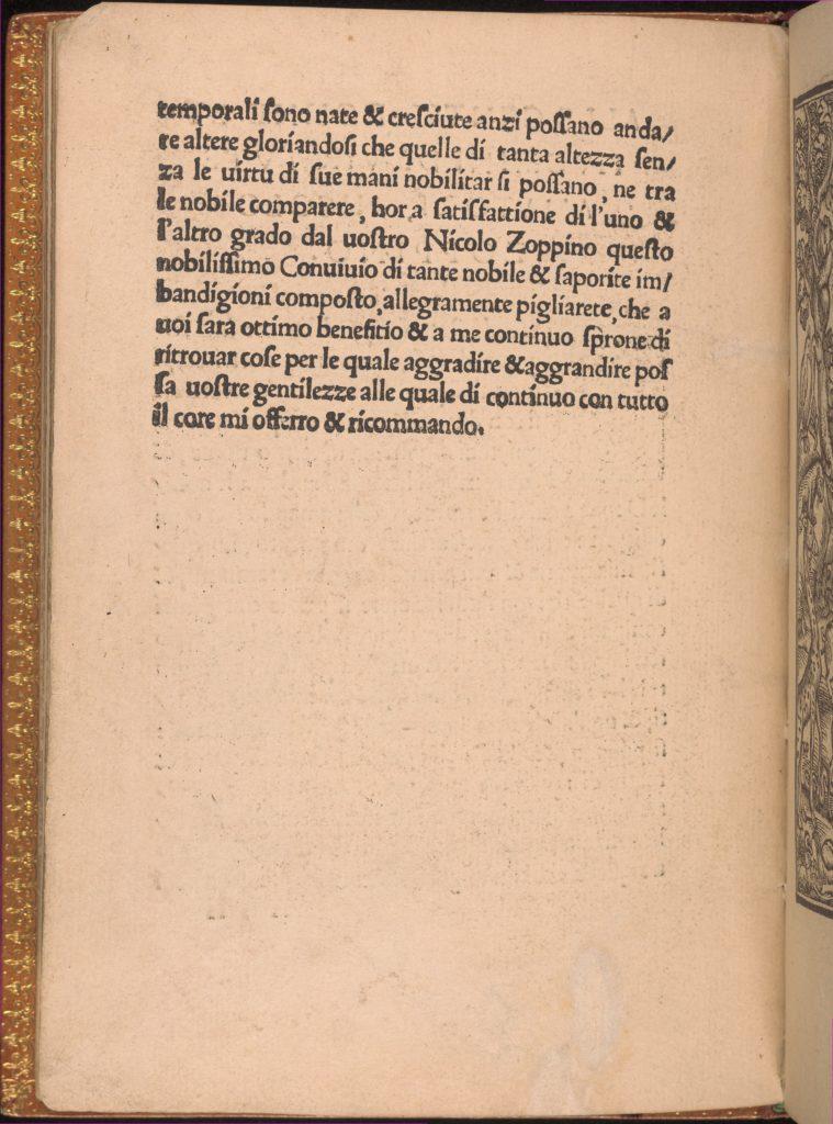 Convivio delle Belle Donne, page 2 (verso)
