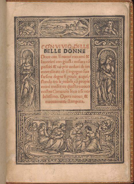 Convivio delle Belle Donne, title page (recto)