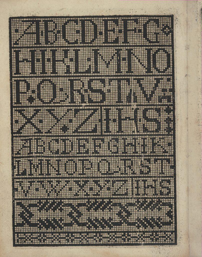 Libbretto nouellamete composto per maestro Domenico da Sera...lauorare di ogni sorte di punti, page 14 (verso)