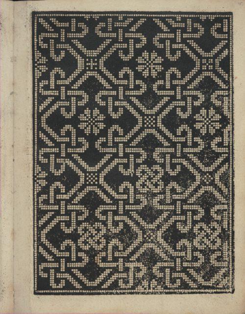 Libbretto nouellamete composto per maestro Domenico da Sera...lauorare di ogni sorte di punti, page 15 (recto)