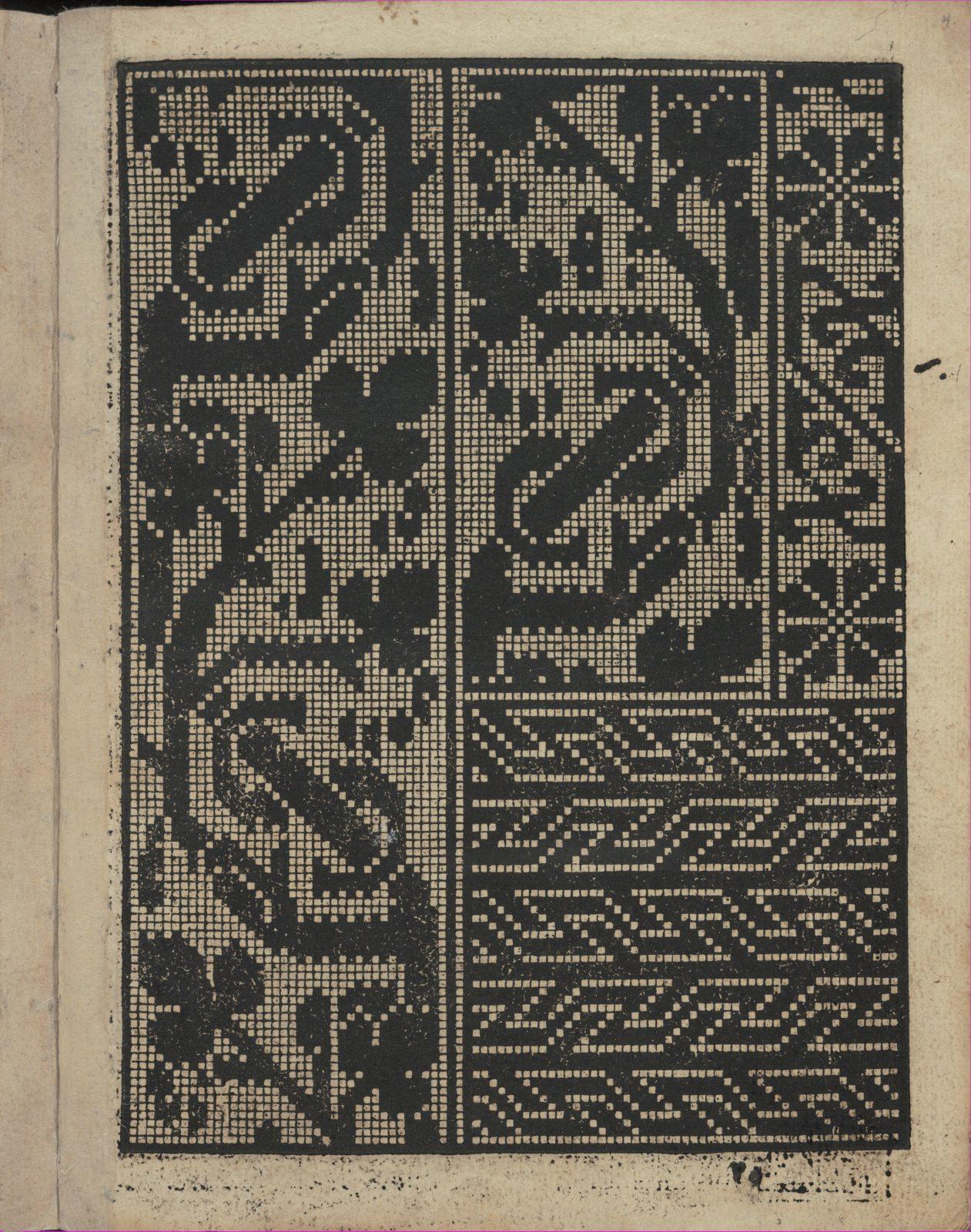 Libbretto nouellamete composto per maestro Domenico da Sera...lauorare di ogni sorte di punti, page 4 (recto)