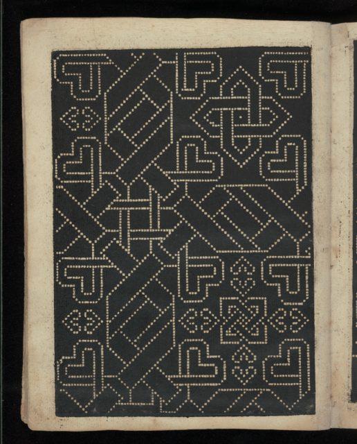Libbretto nouellamete composto per maestro Domenico da Sera...lauorare di ogni sorte di punti, page 18 (verso)
