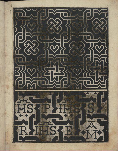 Libbretto nouellamete composto per maestro Domenico da Sera...lauorare di ogni sorte di punti, page 19 (recto)