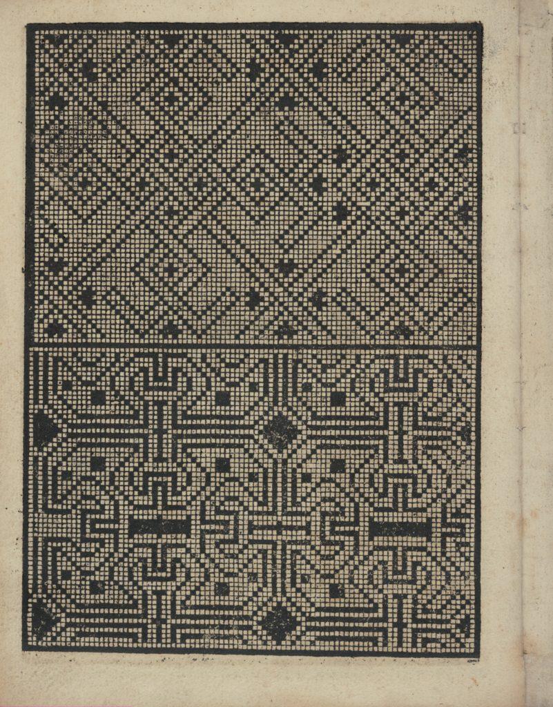 Libbretto nouellamete composto per maestro Domenico da Sera...lauorare di ogni sorte di punti, page 15 (verso)