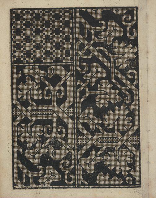 Libbretto nouellamete composto per maestro Domenico da Sera...lauorare di ogni sorte di punti, page 8 (verso)