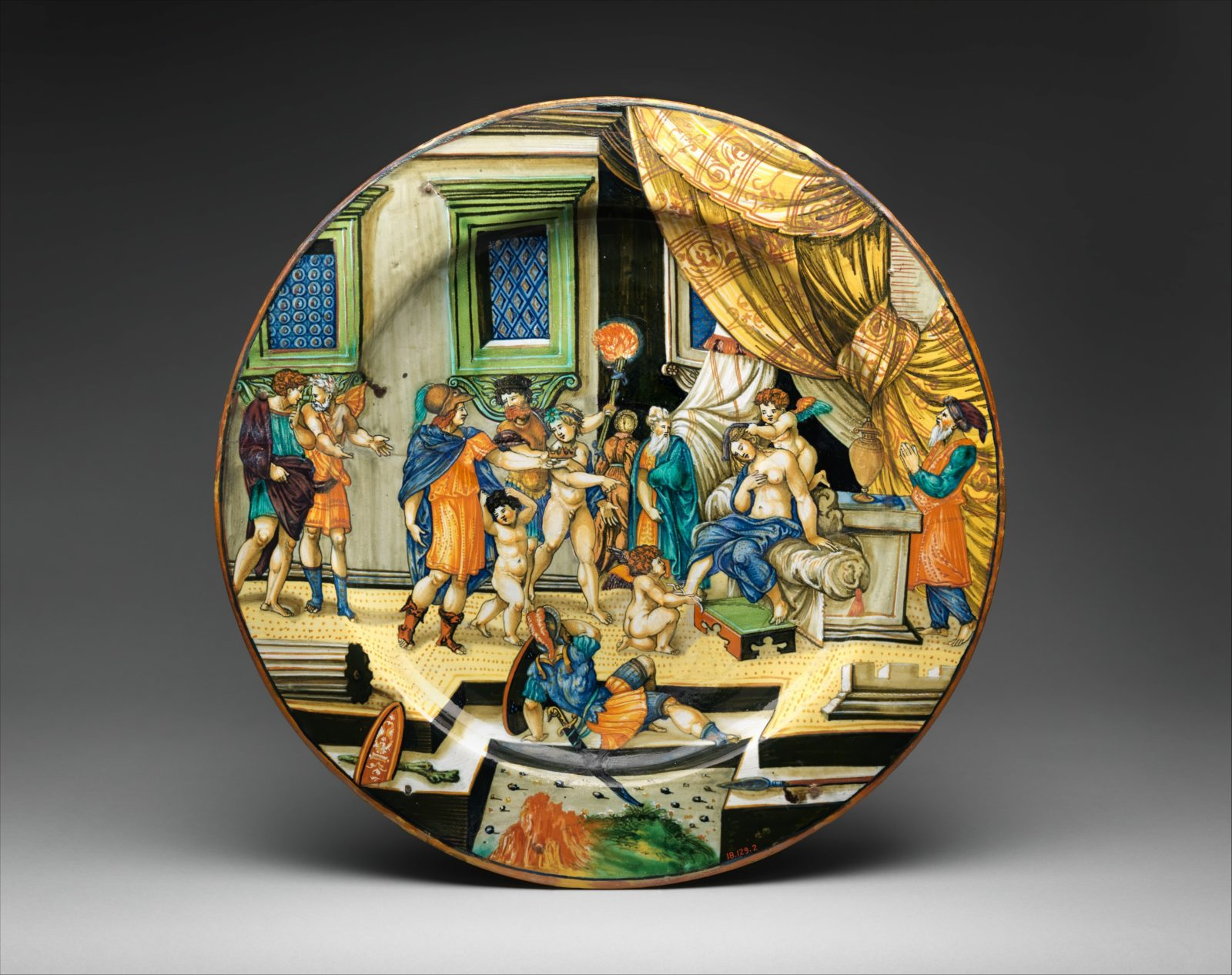 Dish with The Story of Semiramis