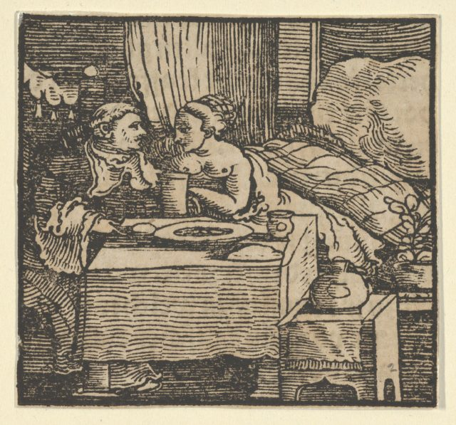 The Nude Girl and the Abbot, from The Decameron