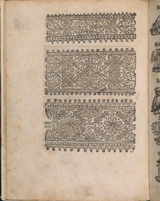 Modelbuch aller Art Nehens vn Stickens (Page 12v)