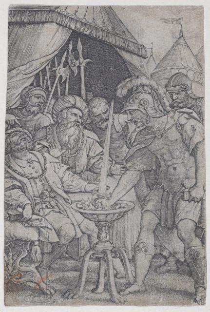 Mucius Scaevola and Porsenna, from Roman Heroes