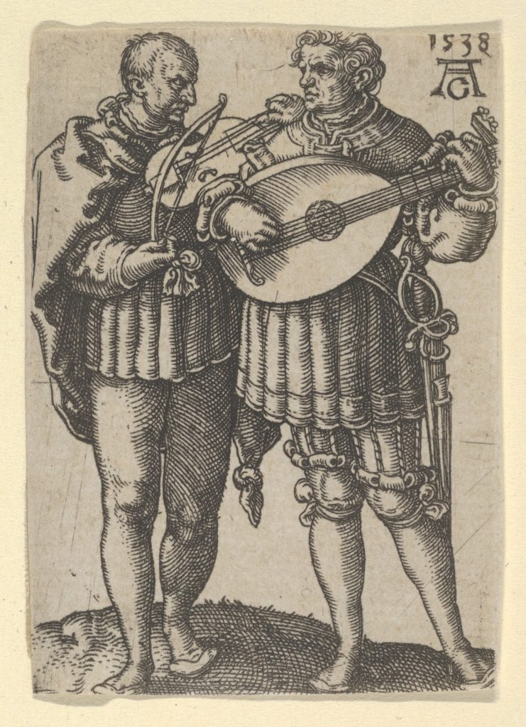 Two Musicians Playing the Violin and the Lute, from The Small Wedding Dancers
