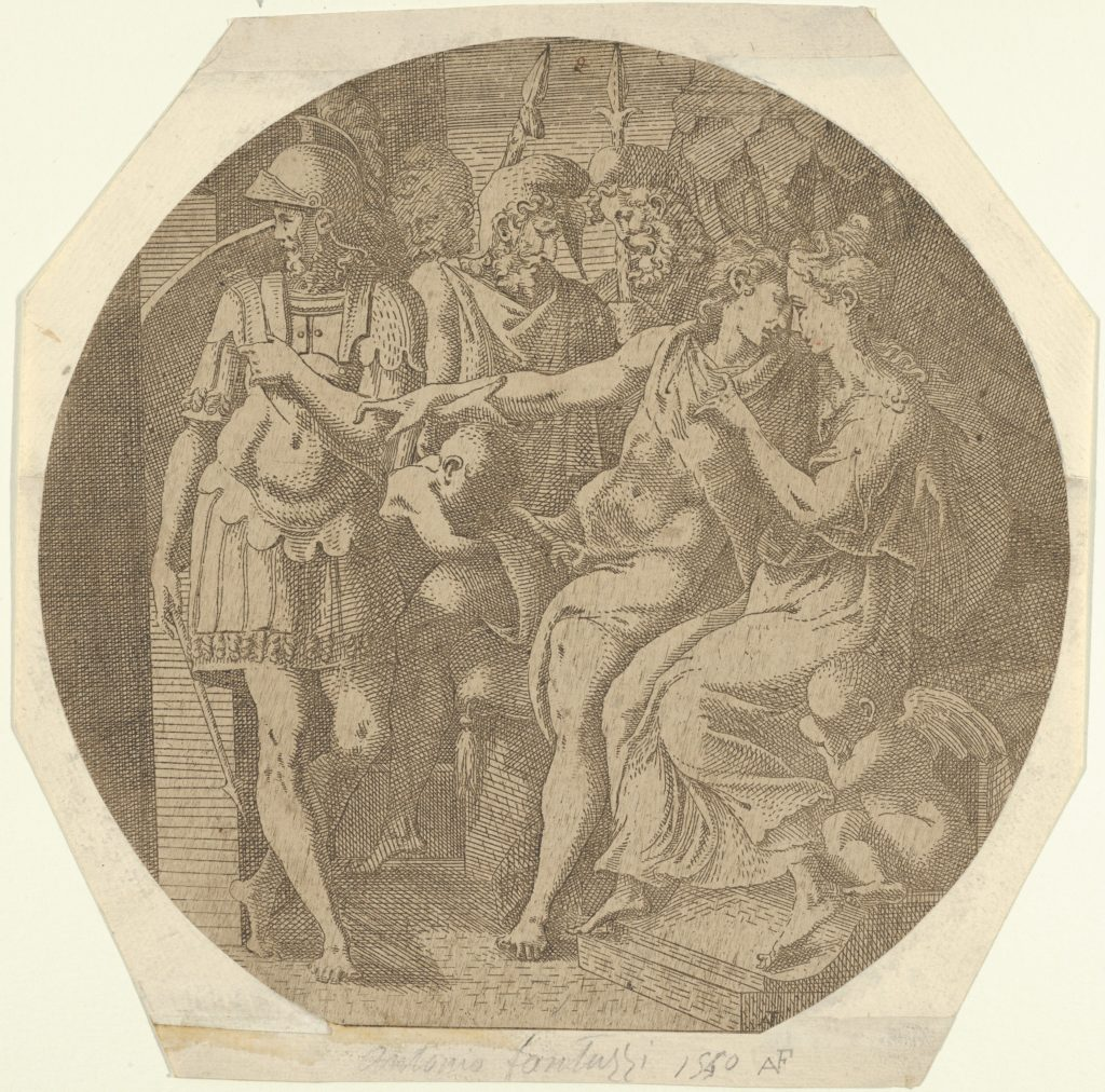 Achilles Bidding Farewell to the Daughters of Lycodemus