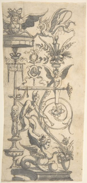 Album or Scrapbook with Grotesque Designs Copied after Prints