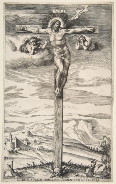Crucifixion with Two Angels
