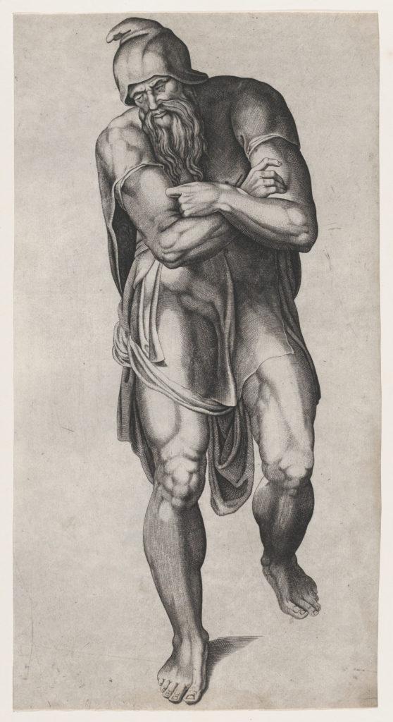 Joseph of Arimathea, after Michelangelo's Crucifixion fresco in the Cappella Paolina, Vatican