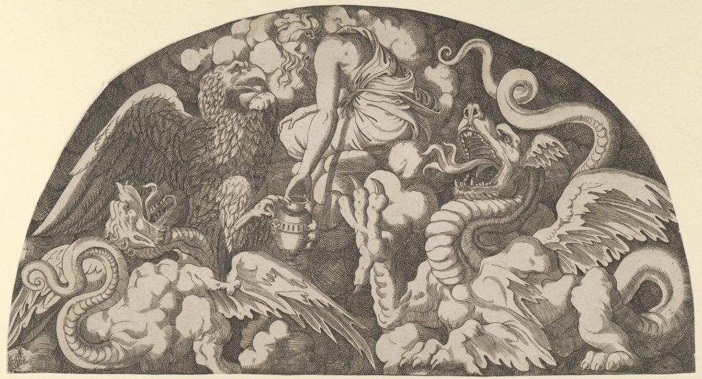 Jupiter's Eagle Bringing Water of the Styx to Psyche