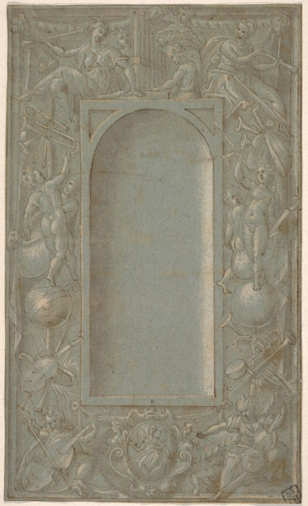 Niche Surrounded by a Decorative Frame Dedicated to the Theme of Music
