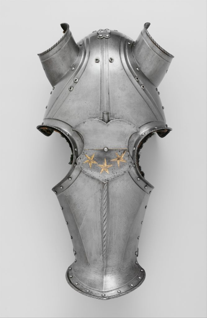 Shaffron (Horse's Head Defense) with arms of the Freyberg family