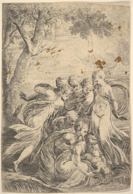 The infant Moses rescued from the Nile