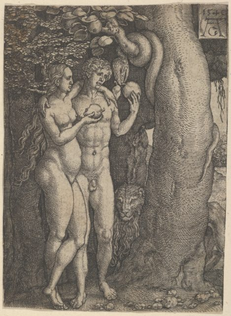 The Temptation of Adam and Eve, from The Story of Adam and Eve