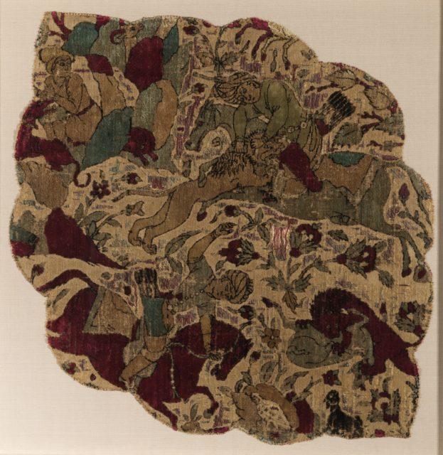 Velvet Panel with Hunting Scene