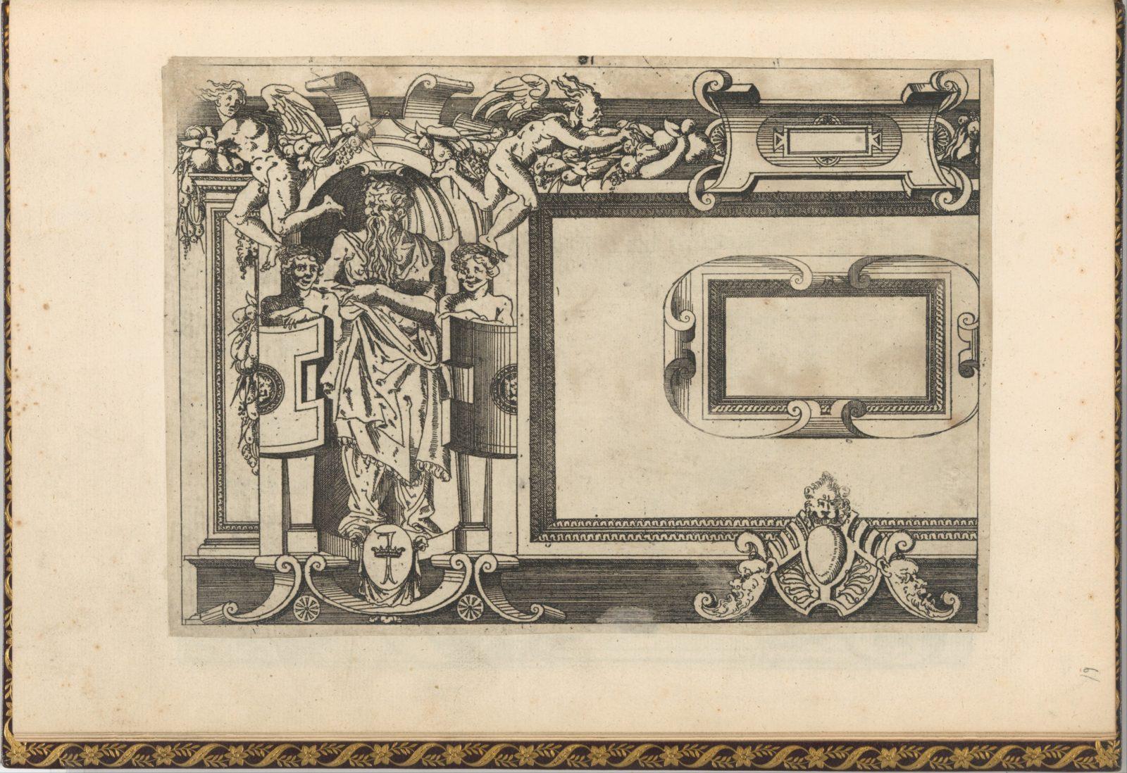 Designs for frames after the Galerie de François 1er at Fontainebleau