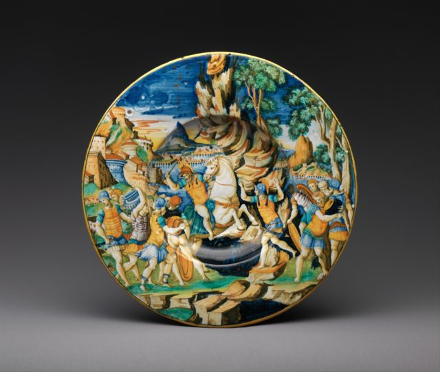 Dish with The Heroism of Marcus Curtius