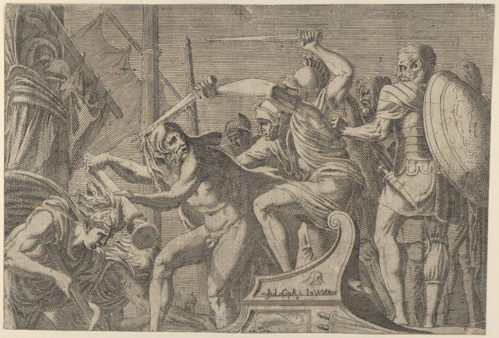 Hercules Fighting Aboard The Argonauts' Ship