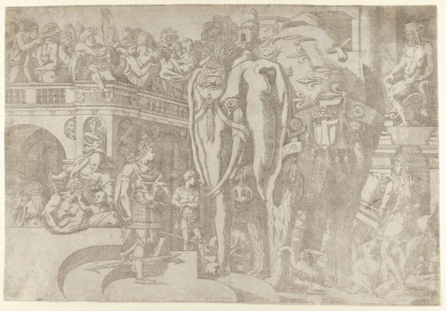 The Elephant with the Fleur de Lys