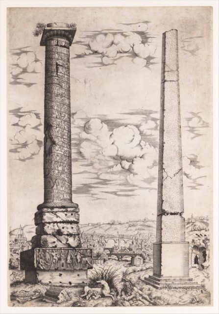 Column of Antoninus and a Roman Obelisk