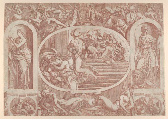Jupiter Sending the Three Goddesses to the Judgment of Paris