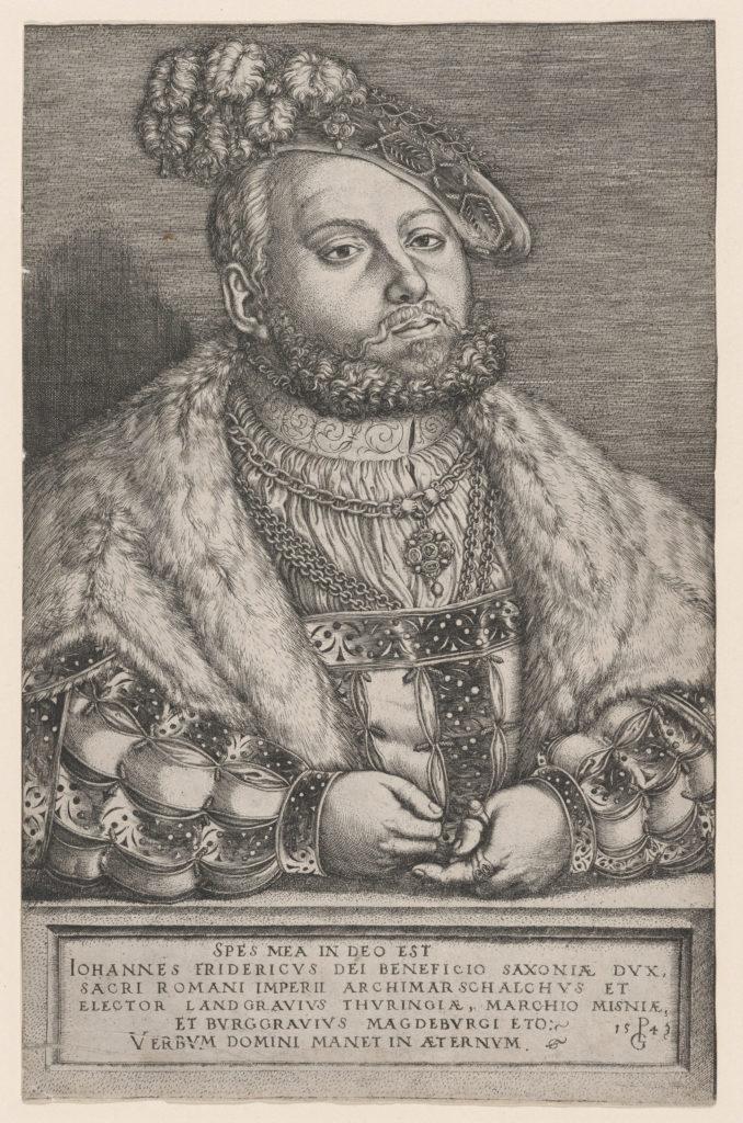 Portrait of Johann Friedrich the Magnanimous, Elector of Saxony