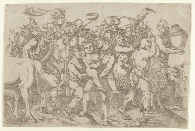 Silenus Carried by Two Attendants of Bacchus