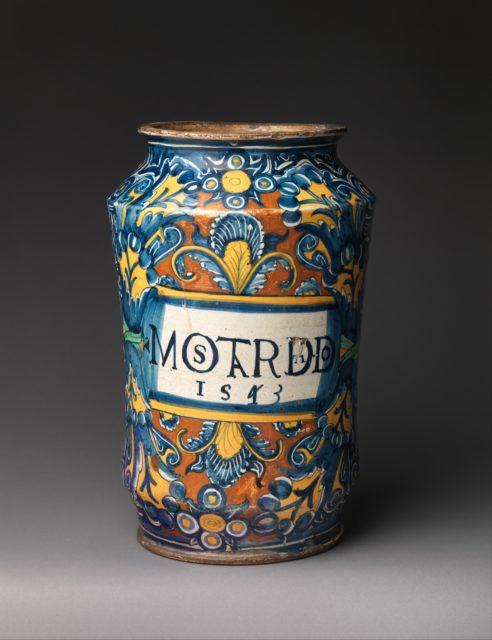 Storage jar (albarello) for mostarda