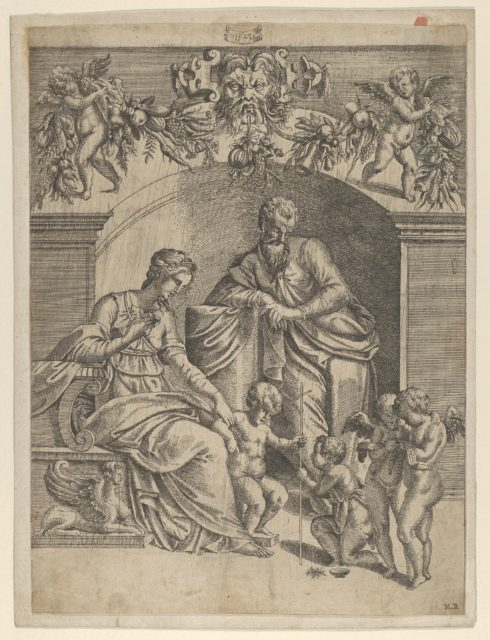 The Virgin with Infant Jesus adored by St. John