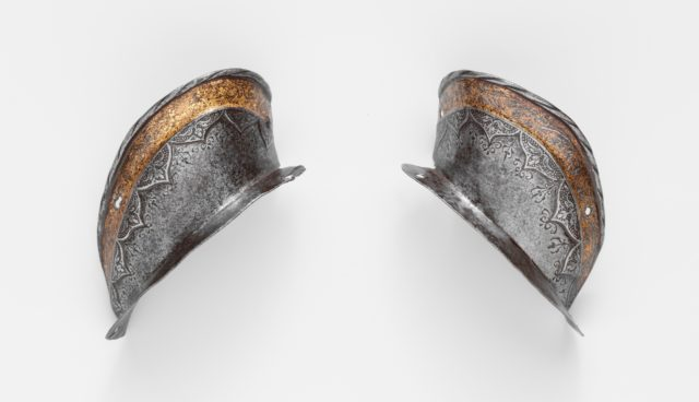 Two Ear Guards from a Shaffron (Horse's Head Defense) of Emperor Charles V (1500–1558)
