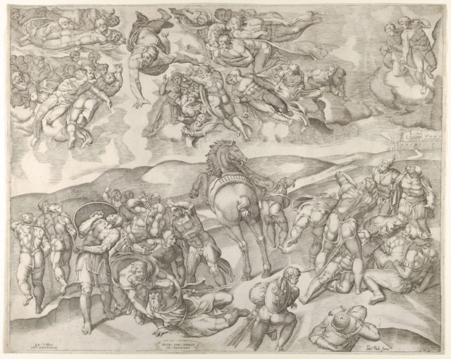 Conversion of Saul, from Michelangelo's fresco in the Pauline Chapel at the Vatican