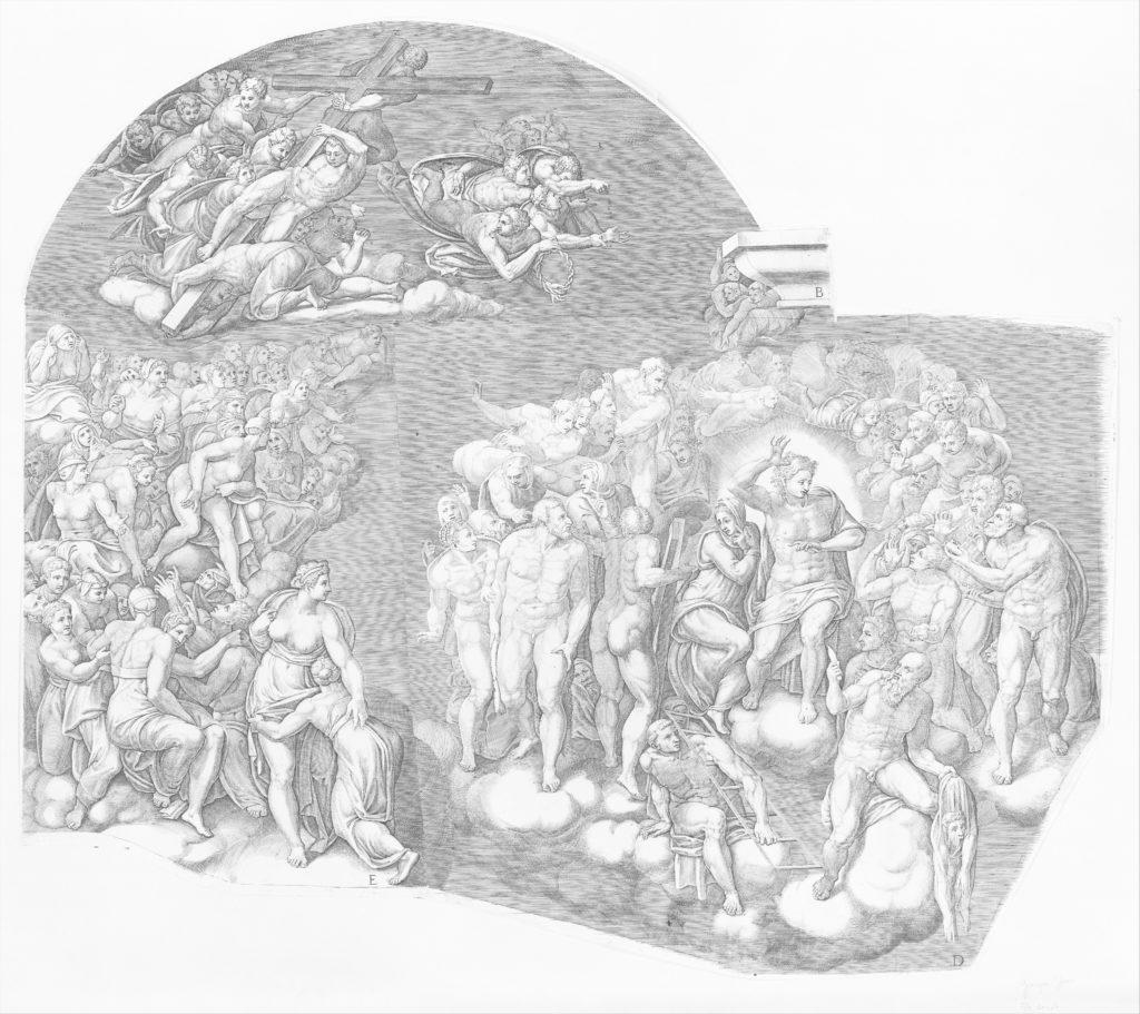 Last Judgment; after Michelangelo's fresco in the Sistine Chapel