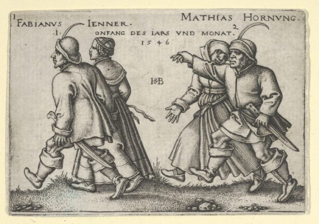 January and February from The Peasants' Feast or the Twelve Months