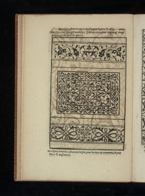 Livre de Moresques, page 6 (verso)