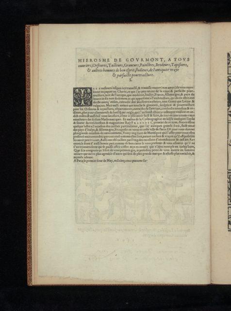 Livre de Moresques, title page (verso)